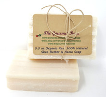 5.5 oz ORGANIC AFRICAN SHEA BUTTER & NEEM OIL SOAP 100% All Natural Cold Processed Process Handmade Ivory Unrefined Shea Bath Body Big Bath Bar BUY 5 BARS, GET 1 FREE!