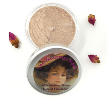 #7A MEDIUM BEIGE Large Jar Minerals Sheer Acne Cover Foundation Bare Makeup Full Size ~ MEDIUM SKIN WITH NEUTRAL TONES