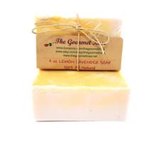 4 oz LEMON LAVENDER SOAP Shea Butter 100% All Natural Glycerin Bath Body Bar Made With Essential Oils ECO Friendly Biodrgradable Vegan BUY 5 GET 1 FREE