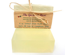 4 oz UNSCENTED ALOE VERA SOAP Complexion Facial Face 100% All Natural Glycerine Glycerin Bath Body Bar