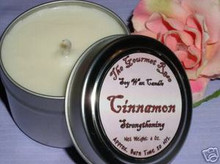 CINNAMON SOY CANDLE TRAVEL TIN 100% All Natural Essential Oil Scented Aromatherapy Clean Burning Eco Friendly SOOT FREE 20 HOUR