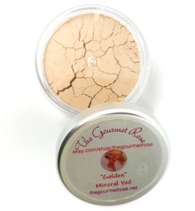 GOLDEN MINERAL VEIL Finishing Setting Loose Mineral Booster Powder Bare Flawless Minerals Photogenic Oil Absorbing Finish Cover Matte Yellow Corrector Dark Under Eye Concealer Full Size WORKS WELL WITH FAIR, LIGHT & MEDIUM WARM SKIN TONES Large Jar