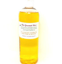 16 oz GOLDEN OIL 100% Pure All Natural Unrefined Cold Pressed Wax Carrier Massage Body Lotion 1 lb