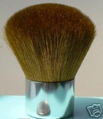 SILVER FULL COVERAGE KABUKI BRUSH Bare Makeup Minerals 100% Natural Goat Bristles