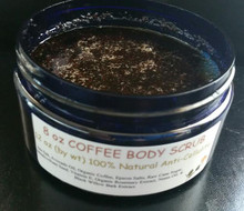 12 oz ORGANIC COFFEE SCRUB Cellulite Treatment Body All Natural Bath Dead Sea Salt Raw Cane Sugar Skin Exfoliate Polisher Spa