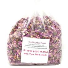 1 lb PINK ROSE PETALS FOOD GRADE Buds Soap Craft Natural Potpourri Vitamin C BULK 24 CUPS