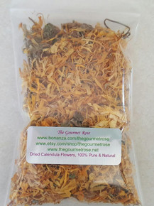 1 oz CALENDULA OFFICINALIS PETALS 100% Natural Dried Flowers Botanicals Herbs Herbal Bath Tea Potpourri Soap