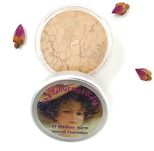 #7 MEDIUM WARM Large Jar Minerals Sheer Acne Cover Foundation Bare Makeup Full Size MEDIUM SKIN WITH WARM OLIVE TONES #7