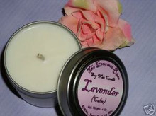 LAVENDER SOY CANDLE TRAVEL TIN 100% All Natural Essential Oil Scented Aromatherapy Clean Burning Eco Friendly SOOT FREE