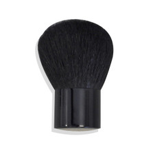 LARGE BLACK FULL COVERAGE KABUKI BRUSH Bare Makeup Minerals 100% Natural Goat Bristles