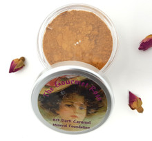DARK CARAMEL Large Jar Bare Foundation Mineral Makeup Minerals Undertones Dark To Deep Skin Gold Red & Bronze Tones
