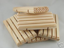 RUSTIC UNSTAINED SOLID PINE SLATTED SOAP DISH Wood Wooden Natural Wholesale Bulk Available