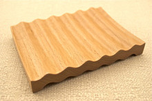 LARGE WAVY SOLID BEECHWOOD SOAP DISH Beech Wood Handmade Dish Deck Tray Rectangle Natural Wooden Wholesale Polished Sealed