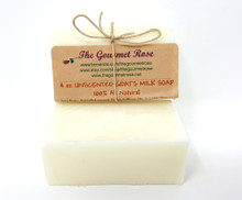 4 oz Each UNSCENTED CREAMY GOAT'S MILK SOAP Complexion Facial Face 100% All Natural Creamy Goats Milk Glycerin Goat Bath Body Bar