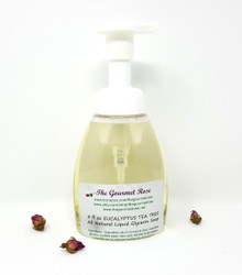 8 oz ORGANIC PEPPERMINT FOAMING LIQUID VEGAN HAND SOAP 100% Natural Handmade Castile BUY 5 GET 1 FREE!