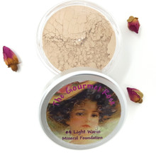 #4 LIGHT WARM Large Jar Minerals Sheer Acne Cover Foundation Bare Makeup LIGHT SKIN WITH YELLOW WARM TO NEUTRAL TONES #4