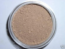 "Sample Jar TAN BEIGE Minerals Sheer Acne Cover Foundation Bare Makeup Trial Size ""FORMERLY DARK MEDIUM TAN""-  TAN SKIN WITH NEUTRAL UNDERTONES #8A"