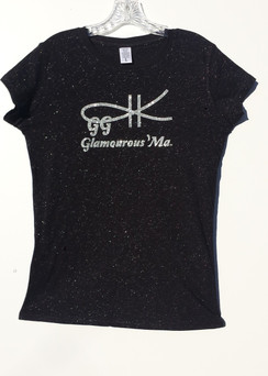 A MORE DECORATIVE TEE, WITH NON SHEDDING NON ITCHING GLITTER MADE INTO THE MATERIAL, A THICKER BLEND OF COTTON