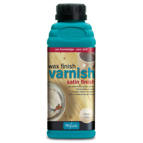 Wax Finish Varnish Satin Colors (500ml)
