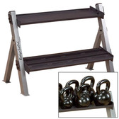 BodySolid GDKR100 Dumbbell Kettlebell Rack