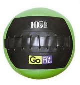 "GoFit 10"" Mini Crossfit-style Wall Ball Vinyl Medicine Ball- 10lbs"