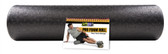 "GoFit Pro Foam Roller with Training Manual 24"" x 6"""