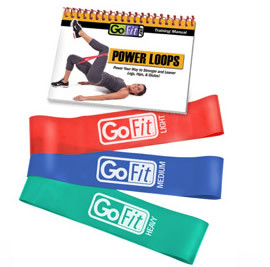GoFit Power Loops- 3 Lower Body Bands with Exercise Book