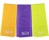 GoFit Latex-Free Flat Band Set with Exercise Booklet- 4' x 6""