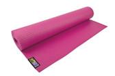 GoFit Yoga Mat with Yoga Pose Wall Chart - Pink