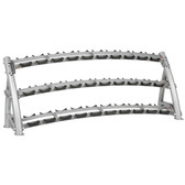 Hoist CF 3461-3 Commercial (3) Tier Horizontal Dumbbell Rack