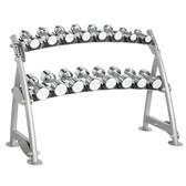 Hoist CF 3462-2 Commercial (2) Tier Horizontal Beauty Dumbbell Rack