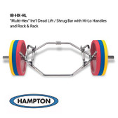 Hampton Multi-Hex International Dead Lift / Shrug Bar w/ Hi-Lo Handles