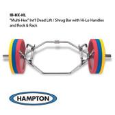 Hampton Multi-Hex International Dead Lift / Shrug Bar w/ Hi-Lo Handles