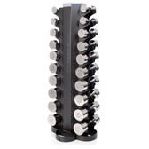 Hampton Chrome Beauty Grip 10 Pair Set, with one V-2-10 rack (2 - 25 lbs)