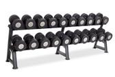 10 pr dumbbells (55-100 in 5 lb increments), 2T-SDL-10 rack not included