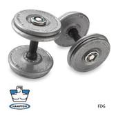 105-150 Ib Gray Pro-style Dumbbells With Urethane Snug-grip Handles