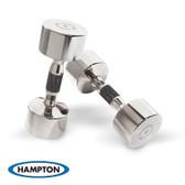 Hampton Chrome Beauty Grip Dumbbells, Pairs