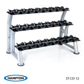 Hampton Chrome Dumbbell Saddle Racks