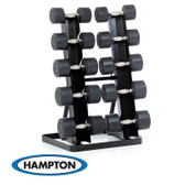 Hampton Dura-Pro Dumbbells 13 Pair Set with Vertical Racking Club Pack