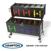Hampton Group X Club Pack Jelly Bell Urethane Aerobic Dumbbell 44 Pair Set