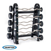Hampton Urethane Curl & Straight Bars Barbell Club Pack Set