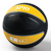 Spri Yellow Xerball Medicine Ball - 2lb