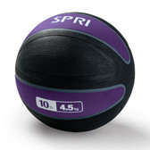 Spri Purple Xerball Medicine Ball - 10lb