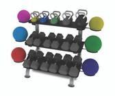 Paramount Fitness Line 3 Tier Flat Tray Dumbbell Rack