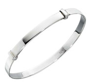 Classic Sterling Silver Child's Bangle - 56mm