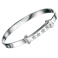 B4322 D for Diamond Twinkle Twinkle  Bangle - Front