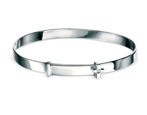 D for Diamond Cross Baby Bangle for Girls B775