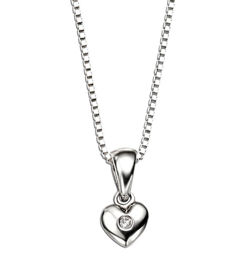 D for Diamond Heart Pendant P620