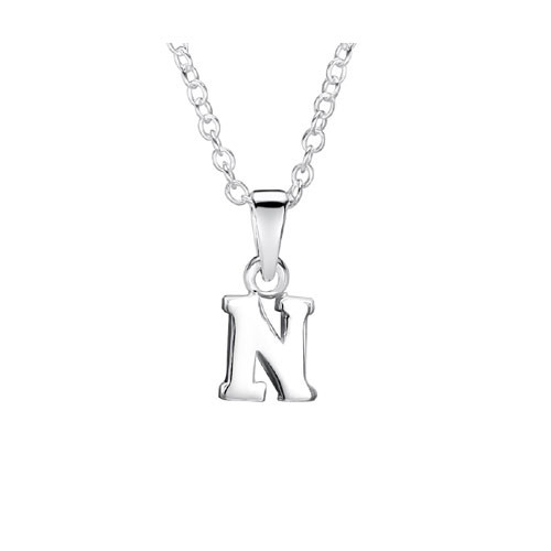 Jo For Girls Silver Initial Pendant - N