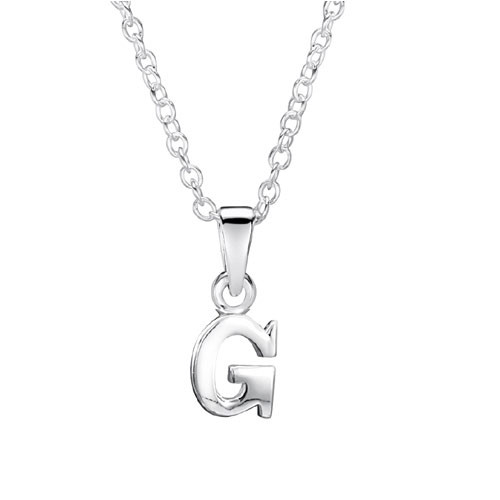 Jo For Girls Silver Initial Pendant - G